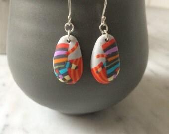 Festive grey drop earrings