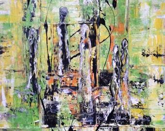 La Esperanza - hope, abstract, acrylic on canvas, 70 x 100 cm