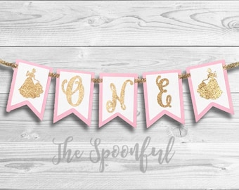 Disney Princess High Chair Banner, High Chair Banner, Age Banner, Age Highchair Banner, Princess Highchair Banner