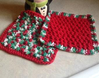 Christmas washcloth