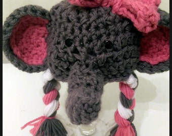 Elephant Newborn Hat Crochet Photo Prop