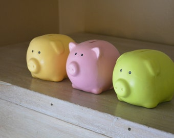 Set of Vintage Style Piggy Banks