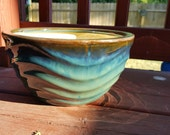 Teal Ceramic Planter, Succulent Planter, Dish Garden, Container Garden, Stoneware Planter, Glazed Pot, Gardening Pots, Modern Planter