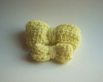 Yellow Bow Hair Clips