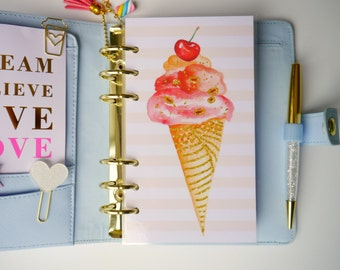 Ice Cream Personal, A5 & Pocket Size Planner Dashboard