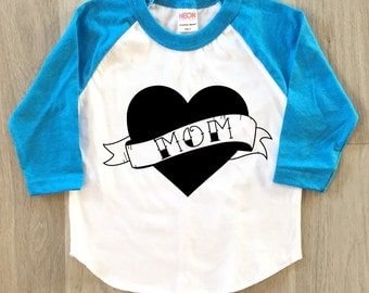 Mom Heart - Mother's Day - baby boy or girl clothes toddler shirt