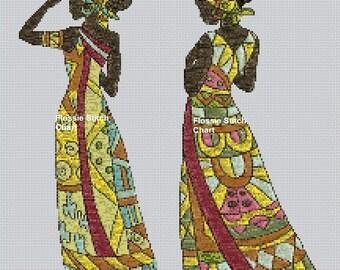 African Art #2 Cross Stitch Chart