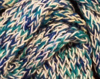 blue and white convertible scarf
