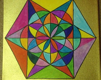 Flower of Life Painting