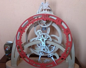 Clock skeleton wooden epicyclic gear: Nautilus