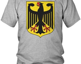 Germany Eagle Crest Men's T-Shirt, Deutschland, German Pride, Soccer, Men's Germany Shirts AMD_0130