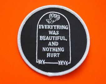 "Kurt Vonnegut Everything Was Beautiful Slaughterhouse-Five embroidered patch 3"""
