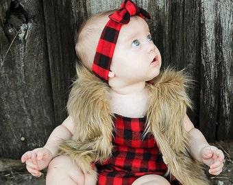 Baby faux fur vest