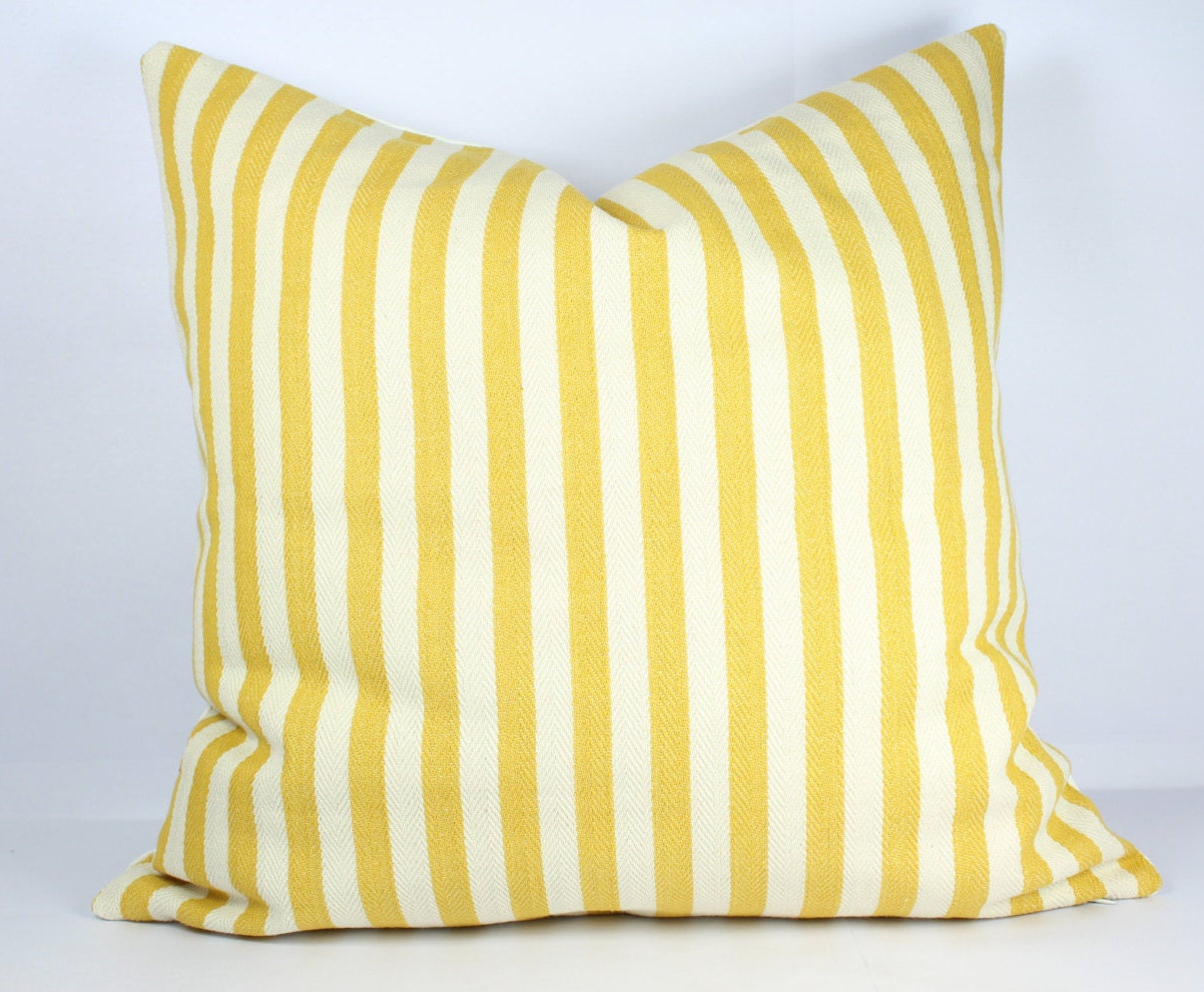 Striped pillow cover 24x24 herringbone pillow cover 18x18