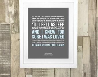 Song Lyrics Personalised Print