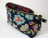 Tucson Beaded black handmade southwestern cosmetic toiletry bag