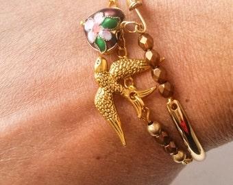 Bracelet Beads Bracelet Dove, swarowski Crystal