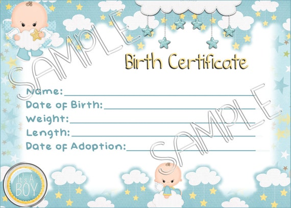 Its a boy reborn baby doll birth certificate instant its a boy reborn baby doll birth certificate instant download you print png jpeg and pdf files for 8x10 yadclub Choice Image