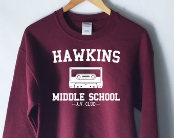 Hawkins Middle School AV Club Sweatshirt - Stranger Things Shirt - Stranger Things Tee - Jumper - Eleven Hopper