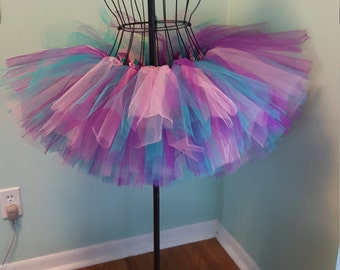 Adult tutu, Paris pink, purple and aqua