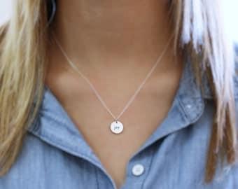 Joy Necklace - Sterling Silver Round Joy Necklace - Joy Pendant - Joy Word Necklace - Reversible Necklace - Happiness Jewelry - Choose Joy