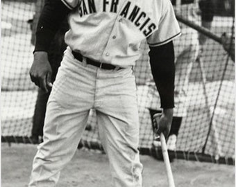 Willie Mays Baseball Great Vintage Sports Poster 24x36 San Francisco Giants 1960's
