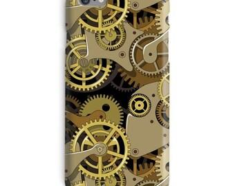 Steampunk iPhone Case, Cogs iphone case, Gears iphone 6 case, Gold iphone 6 case, Mechanical iphone 6s case, Retro iphone case