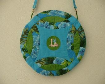 turquoise beach bag