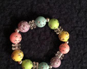 Pastel color infant/child stretch bracelet
