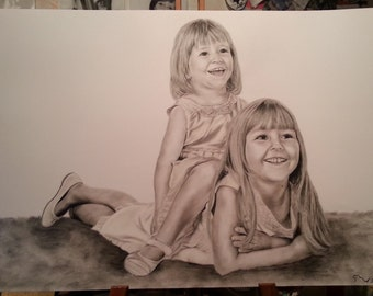 Customized portrait (size A2 - 16.53 x 23.39 inches)