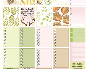 Set of Two - Printable Fall Planner Stickers