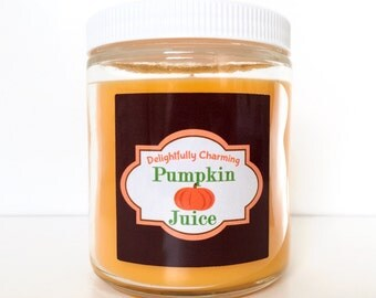 Pumpkin Juice Candle - Delightfully Charming Candles - Harry Potter Inspired Candle - Soy-blend - 8 oz Container