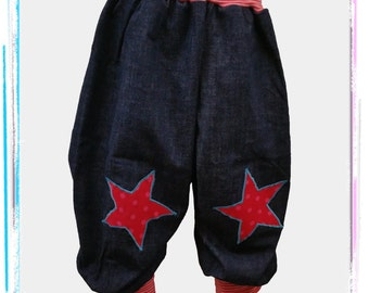 Pants of pink jeans star 104