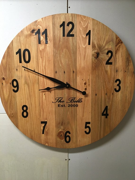 large wall clock traditional oversized reclaimed by ontimehome