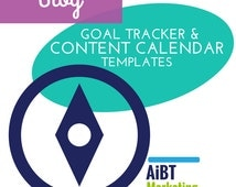 Ultimate Blog Tools, Content Calendar and Goal Tracker Excel Templates