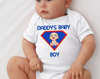 Daddy's Baby Boy Onesie infant bodysuit T-shirt