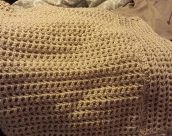 Tan Crocheted Pillow Shams