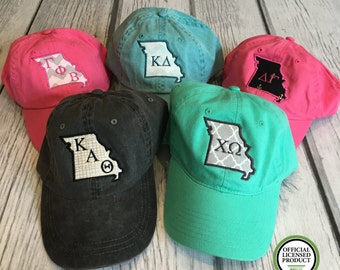 Sorority Hat, Sorority Letter, Sorority Gift, Sorority Clothing, Kappa Delta, Gamma Phi Beta, Kappa Alpha Theta, Delta Gamma, Chi Omega, Hat