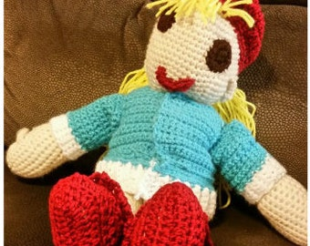 Ms. Dani Doll is a handmade crocheted doll.  She is very huggable and is safe for children of all ages