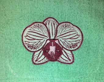 Machine embroidery design applique flowers Orchid