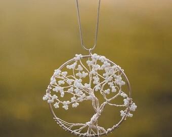 Cherry tree - tree of life pendant