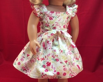 Free Shipping - Floral dress with ruffled sleeves