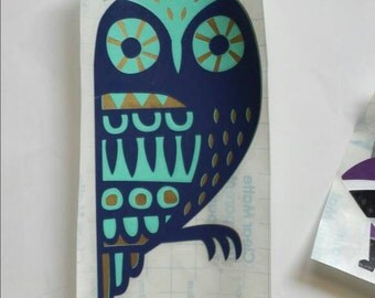 Owl Whimsical Woodland Animals Decal, Critter Sticker, Enchanted Forest Decor