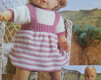 Knitting Patterns For 24 Inch Dolls : Dolls Clothes PDF Knitting Pattern : 14 - 16 and 18 - 20 ...