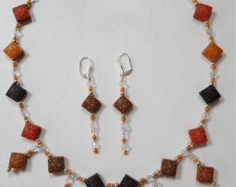 Earth Tone Necklace and Earrings