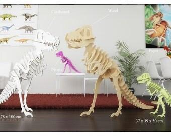 TYRANNOSAURUS REX PUZZLE - Cnc template laser cutting file - Dinosaur laser cutting - T rex, jurassic park ,dinosaur decor, chiledren room
