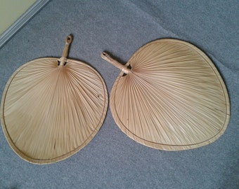 fins rattan for wall decor, 80s