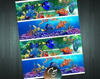 FINDING DORY WATER Bottle Labels.