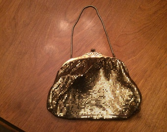 Whiting and Davis GOLD MESH BAG.