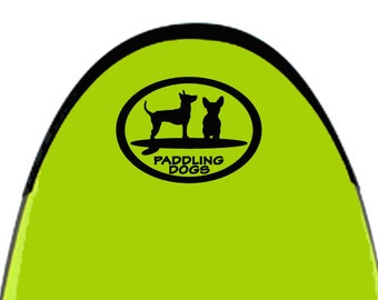 Paddling Buddies Dog Vinyl SUP Kayak Canoe Car Sticker Decal Original Design by Paddling Dogs Terrier Chihuahua Min Pin